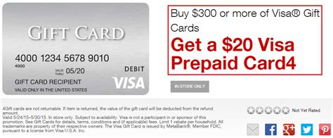 Staples Visa Gift Card Rebate - staples easy rebate purchase 300 in visa gift cards and receive 20 visa gift card