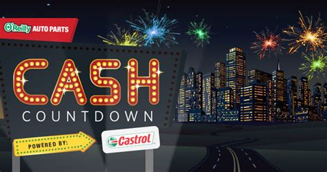 O Reilly Sweepstakes - o reilly auto parts cash countdown sweepstakes 2017