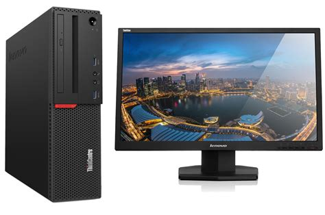 Monitor Komputer Led 14 Inch lenovo thinkcentre m700 sff desktop pc bundle with 24