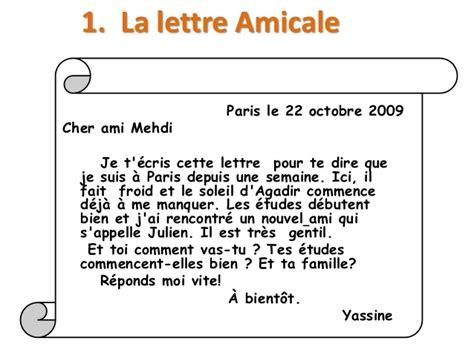 Exemple De Lettre Pour Un Ami Exemple De Lettre A Un Ami