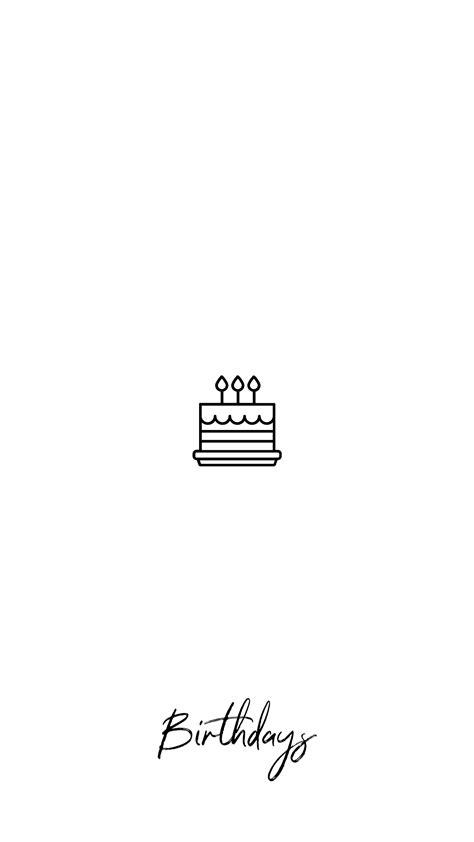 instagram story highlights cover birthdays