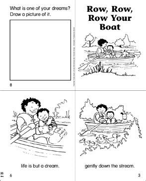 row your boat worksheet row row row your boat printable mini books