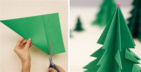 christmas trees made out of consttruction paper how to make 3d paper tree diy crafts handimania