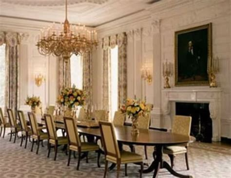 Obama Dining Room Makeover Obama Reveals Fancy White House State Dining Room