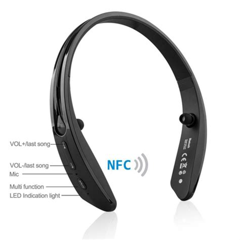 Neckband Wireless Bluetooth Stereo Headset Nfc Bm 170 Black wireless nfc bluetooth earphone neckband headsets earbud for sport ebay