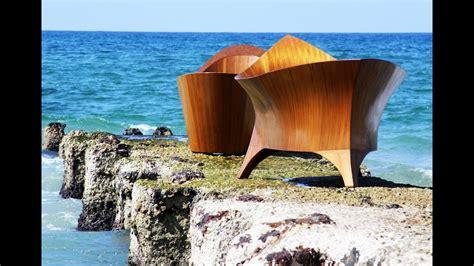 exotic wood high  luxury furniture  modern bath