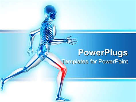 powerpoint templates knee powerpoint template a skeleton is running with