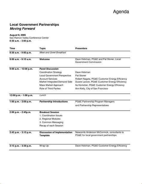 itinerary template word meeting agenda word template bookletemplate org