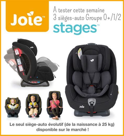 siege auto joie stages test si 232 ge auto stages joie