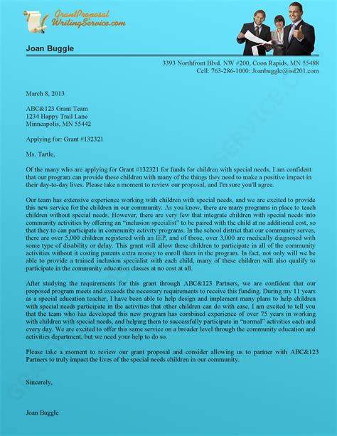 grant cover letter template professional writing of bid grant