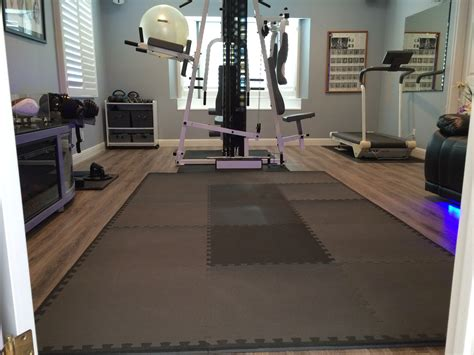 home exercise room flooring ourcozycatcottage