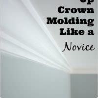 how to put up crown molding like a novice moldings sherwin williams sea salt and rainwashed