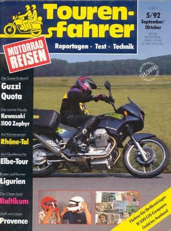 Motorrad Zeitschrift 1992 by Motorradzeitungen Testberichte Gebrauchte