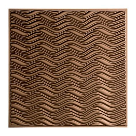 ceiling tiles home depot fasade current 2 ft x 2 ft lay in ceiling tile in argent bronze l76 28 the home depot