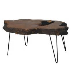hairpin leg coffee table burl coffee table with hairpin iron legs at 1stdibs