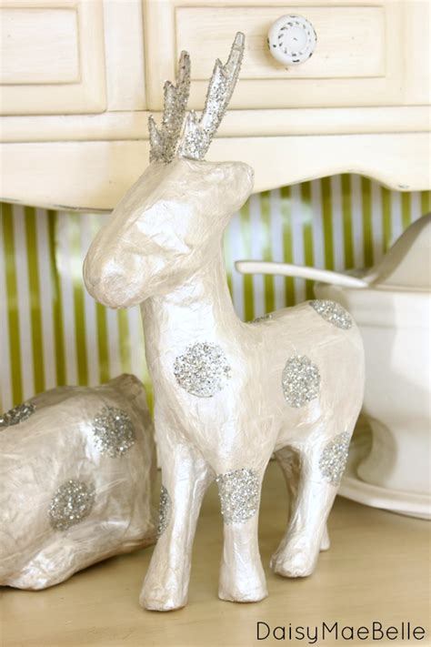 How To Make A Paper Mache Stag - paper mache deer template paper format