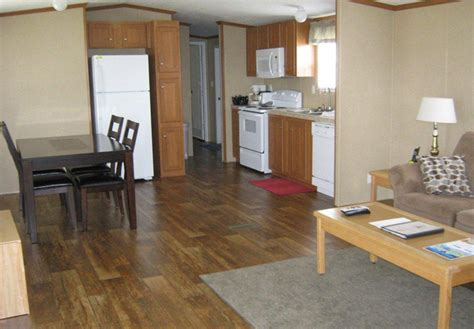 interior design for mobile homes inside of a wide mobil home studio design