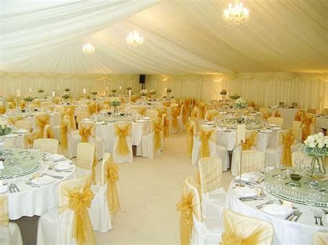 Yellow Decoration For Wedding by Photo Of A White And Yellow Marquee Wedding