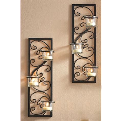 pattern wall sconce living room cool wall sconce candle set of two wall