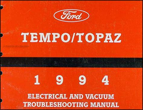 small engine service manuals 1994 mercury topaz electronic valve timing 1994 ford tempo mercury topaz wiring diagram original