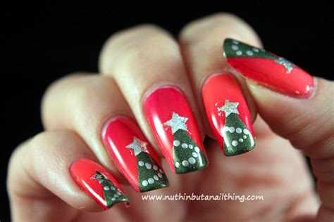 nuthin but a nail thing christmas tree nail art