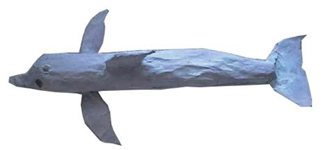 How To Make A Paper Mache Dolphin - dolphin paper mache craft