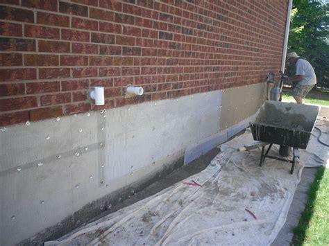 foundation repair parging parging our house