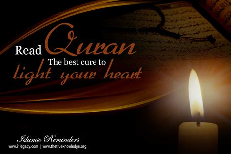 best light to read by read quran the best cure to light your true