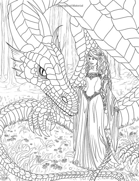coloring pages dragons and fairies artist selina fenech fantasy myth mythical mystical legend