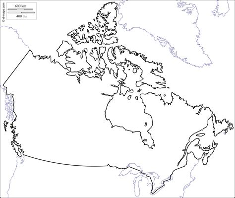 blank map of america with borders blank canada map free printable maps