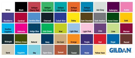 gildan shirt color chart gildan hoodie color chart www imgkid the image kid