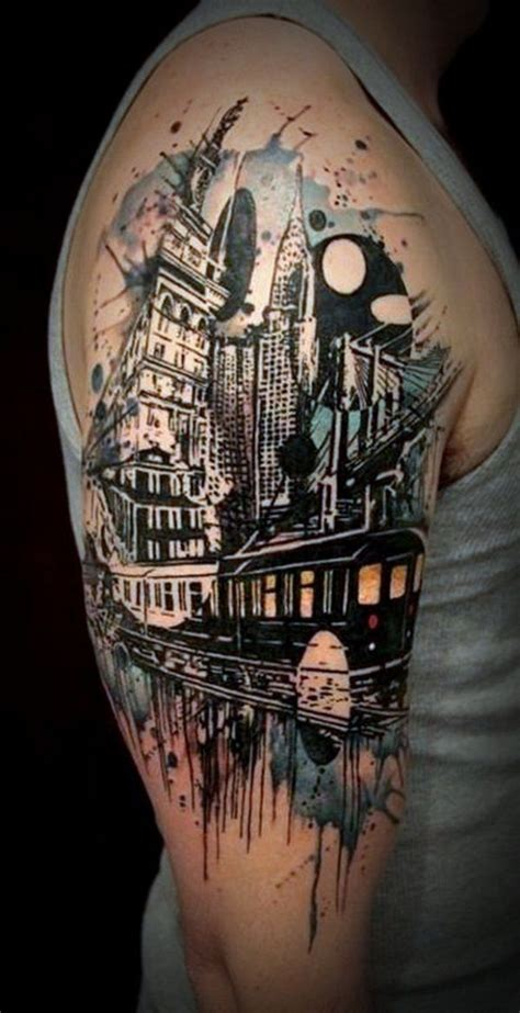 city tattoos designs 60 awesome arm designs sleeve tattoos