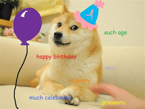Doge Birthday Card Doge Happy Birthday Yes Memes