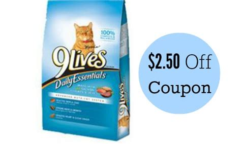 printable 9 lives cat food coupons 2 50 off 9lives cat food coupon southern savers
