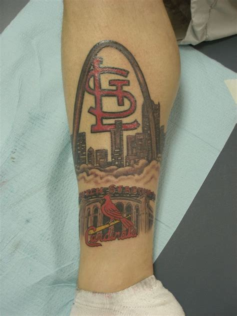 stl tattoo 20 best st louis cardinals tattoos images on