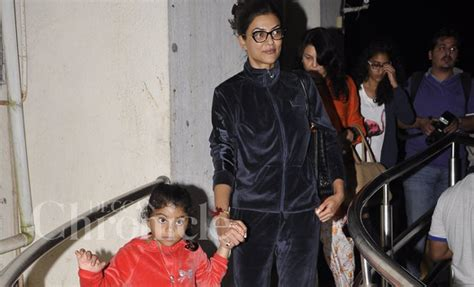 sushmita sen with family sushmita sen s movie outing with family