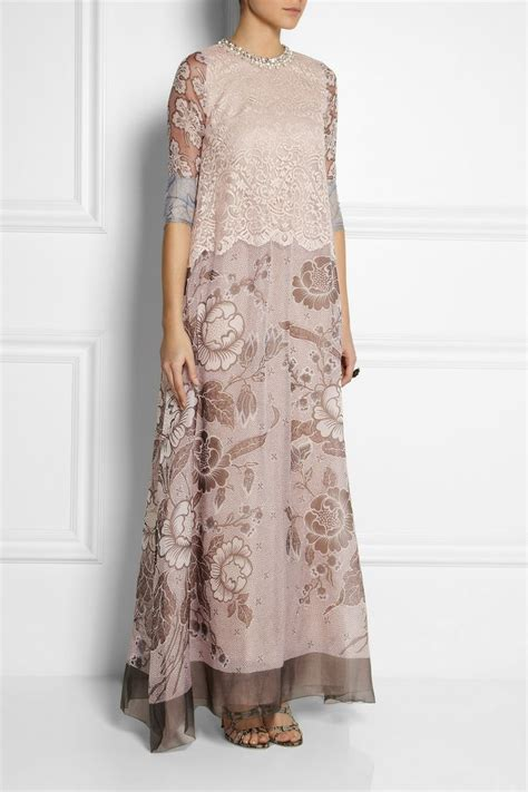 biyan granger lace and silk blend organza gown net a porter style
