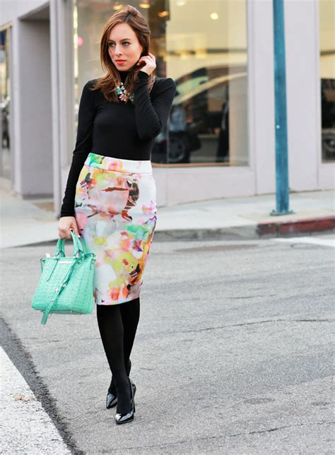 pencil skirts streetstyle the fashion tag