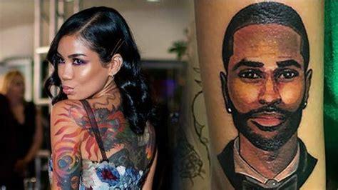 big sean tattoos jhene aiko explains why she covered up big