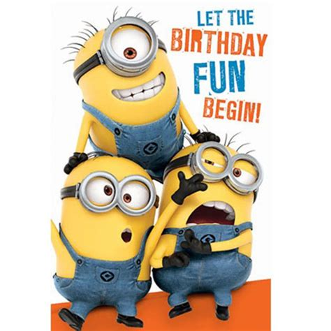 Minion Gift Card - birthday fun minions birthday card with door hanger minion shop