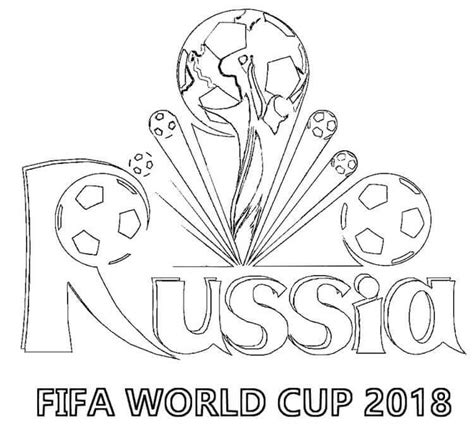 Coloring Page 2018 by Fifa World Cup Russia 2018 Coloring Pages For Free