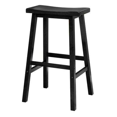 Black Wooden Bar Stool Winsome Wood 29 Inch Saddle Seat Bar Stool Black Kitchen Dining
