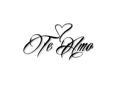 te amo tattoo designs te amo temporary te amo and