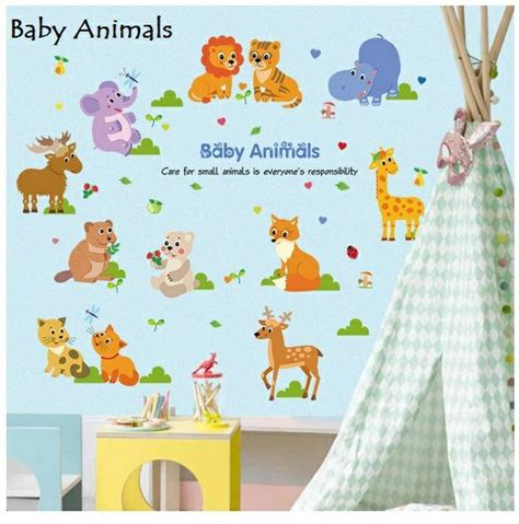 Baby Animals Sk9104 Stiker Dinding Wall Sticker jual wallsticker dinding uk 60x90cm baby animals di