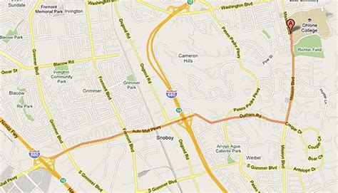 ohlone college map ohlone college driving directions to fremont cus