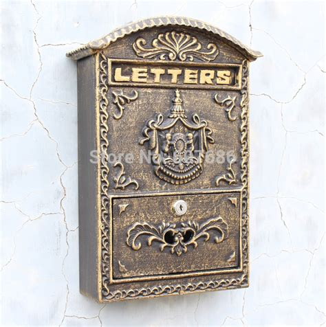 Iron Mailboxes Decorative Cast by Cast Iron Mailbox Postbox Embossed Trim Decor Metal Mail