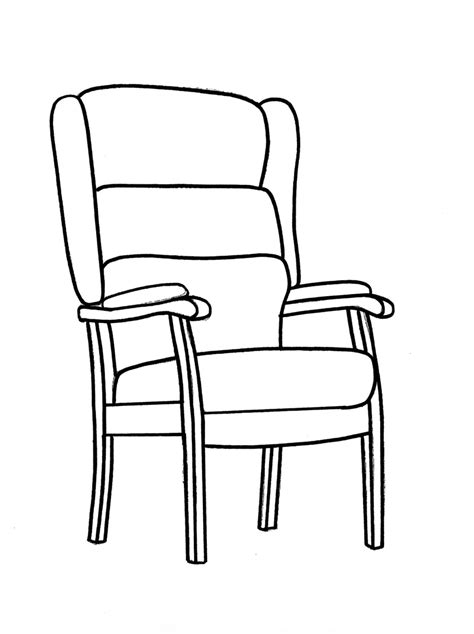 a chair for my worksheets outline drawing line drawing painting