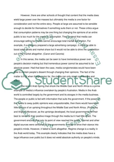 New Media Essay by Does News Mislead The Media Essay Exle Topics And Well Written Essays 500 Words
