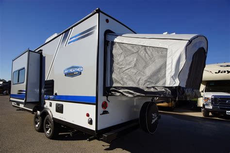 ultra light hybrid travel trailers 2018 jayco feather x23b 1 slide ultralight hybrid