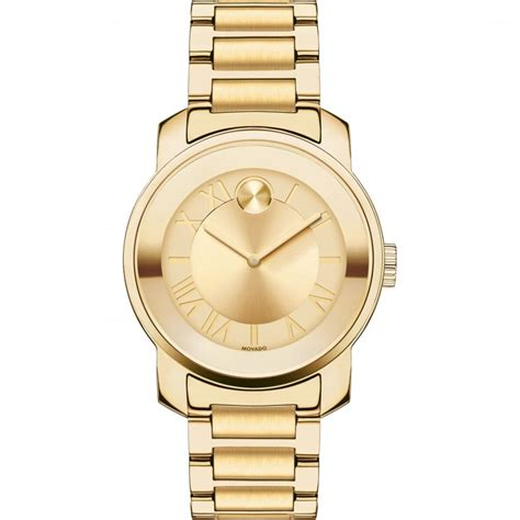 movado bold yellow gold plated watches from